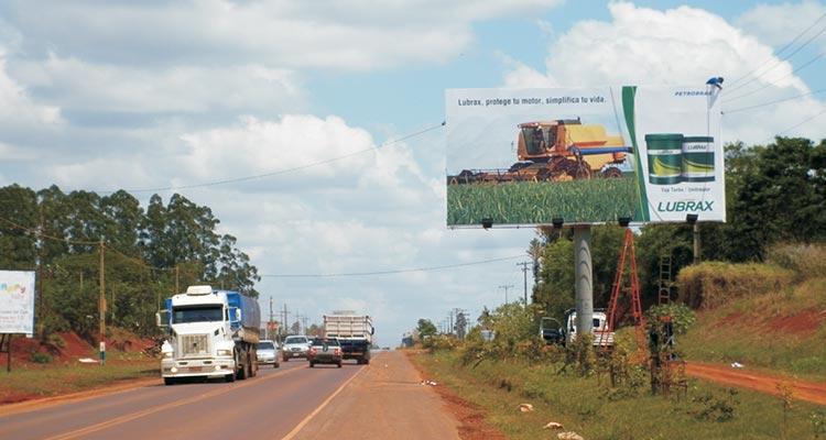Espacio publicitario en San Rita, Paraguay 2020