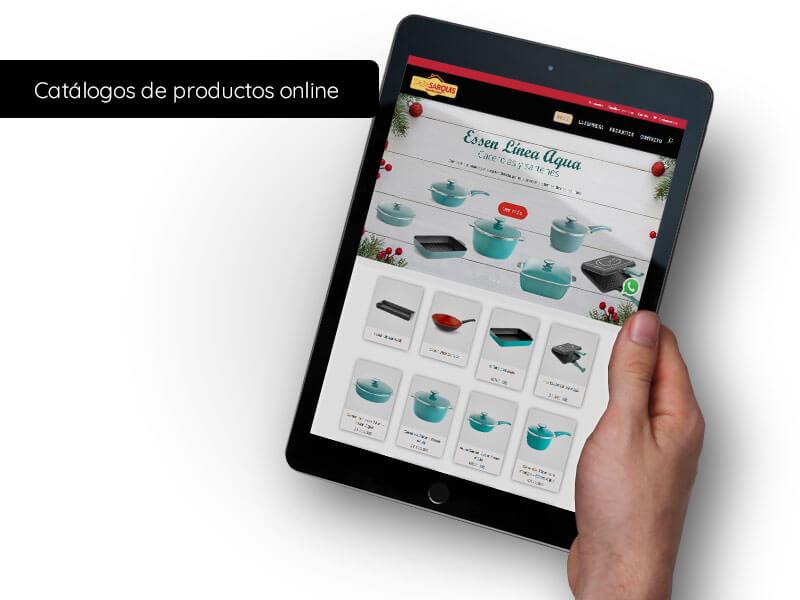 Catálogos de productos online